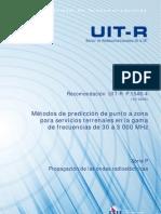 Métodos de predicción de punto a zona para servicios terrenales en la gama de frecuencias de 30 a 3000 MHz