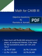 Business Math for CAIIB III.ppt