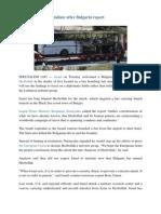 3- Israel Unlikely to Retaliate After Bulgaria Report