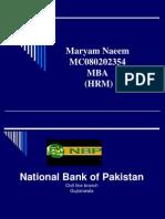 Internship Report on National Bank of Pakistan 2012