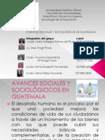 Tarea   9 Presentación avances sociales de guatemala
