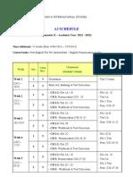 A2 Schedule