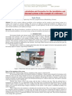 Economic efficiency calculation and Scenarios for the installation and  direction of solar thermal systems at the example of a reference