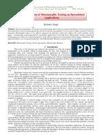 Implementation of Metamorphic Testing on Spreadsheet Applications