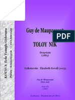 Toloy nik (Guy de Maupassant) ~ Deux amis