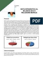 Nota integrativa al bilancio 2012 Associazione Beata Chiara Badano Sassello