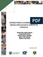 Modelo Para La Conservacion Del Maiz en Coahuila