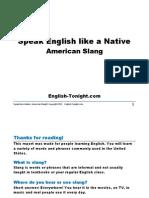 EnglishTonight American Slang