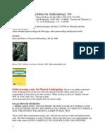 Syllabus for Anthropology 101 S10