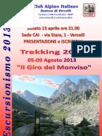 Presentazione TREKKING 2013 CAI Vercelli