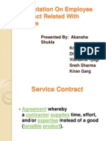 Presentation on Employee Contract Related With Service