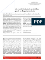 Accuracy of the Pleth Variability Index
