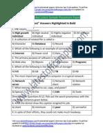 C-DOT Sample Verbal Placement Paper