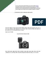 Daftar Harga Kamera Digital Canon Terbaru