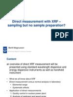 Direct Meassurement With XRF-Sampling but No Sample Preparation