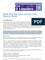 WFP Top 10 Evaluation Lessons - Safety Nets