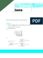Solution CMOS VLSI Design 4th (Odd)
