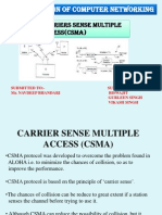 Carriers Sense Multiple Acess (Csma)