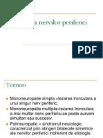 3 Patologia nervilor periferici