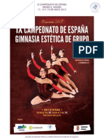 Dossier Informacion Campeonato Gimnasia Estetica 2013