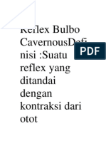 Reflex Bulbo CavernousDefinisi