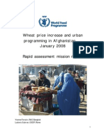 Wheat price increase and WFP urban