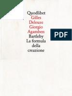 Deleuze Bartleby-La Formula Della Creazione