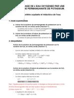 2006 2007 Tp c1 Dosage Oxydoreduction Correction