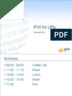 IPv6 for LIRs Training Slides