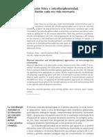 Educación Física e interdisciplinariedad, una relación cada vez más necesaria (Díaz, J., 2010)