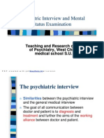 8 Psychiatric Interview and Mental Status Examination