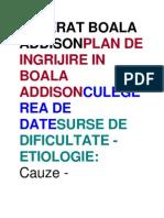 Referat Boala Addisonplan de Ingrijire in Boala Addisonculegerea de Datesurse de Dificultate