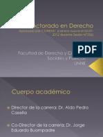 Doctorado en Derecho - A+¦o 2013 - Actualizado  Power Point