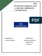 NEW COMPANY LAW BILL w.r.t. Csr & Corporate Governance