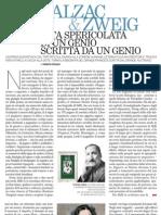Torna in Libreria La Biografia Di Honor de Balzac Scritta Da Stefan Zweig - Il Venerdi Di Repubblica 05.04.2013