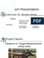 Distance Measurment using Laser red pointer