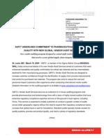 SAFC Quality Audit Services