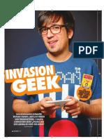 Nota Hombre Invasión Geek