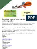 Ingressos para os sete dias do Rock in Rio estão esgotados