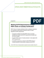 Meeting EUTR Requirements through PEFC Chain of Custody Certification