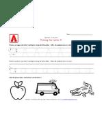 Traceable Alphabet Letter A