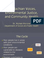 Appalachian Voices, Environmental Justice, and Community Health by Dr. Michele Morrone