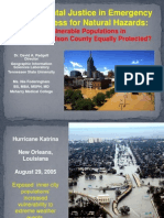 Environmental Justice in Emergency Preparedness for Natural Hazards