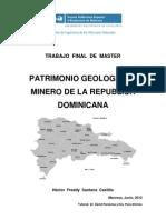 Patrimonio Geologico y Minero de La Republica Dominicana