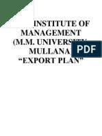 Export Plan