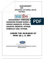 Demutualisation of Indian Stock Exchange