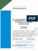 Latinobarómetro La Seguridad Ciudadana