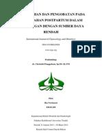 Pencegahan Dan Pengobatan Pada Perdarahan Postpartum Dalam Lingkungan Dengan Sumber Daya Rendah - Figo Guidelines - Ria Novitasari