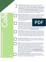 DSOA Band - Junior College Checklist