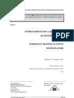 Entrenamiento de la resistencia para jóvenes tenistas